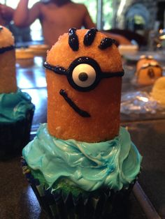 Awesome 6yr old birthday theme.  Despicable Me minion cakes, box of shame and lots of fun!