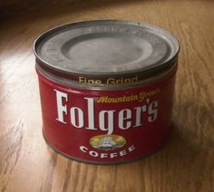 Folgers+Coffee+Can+Mountain+Grown+Vintage+Kitchen+by+Misstiques,+$14.00