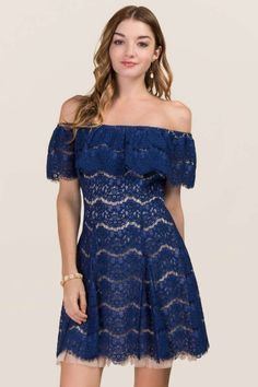 Eden Off Shoulder Lace Dress