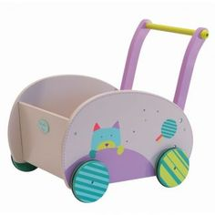 Show details for Moulin Roty Les Jolis Pas Beaux Wooden Walking Trolley Luxury Nursery, Push Toys, French Fabric, Air Brush Painting, Montessori Toys, Kids Wood, Kids Room Design, Wooden Dolls, Wood Toys