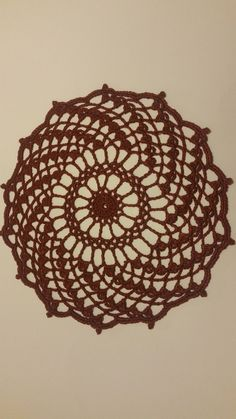9 inches dark red linen If you will other colors or other quantity, please, feel free to ask for custom order. Crochet Doilies, Dark Red, Decorative Bowls, Free, Etsy, Handmade, Colors, Handmade Gifts, Hand Made