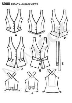 new look vest pattern