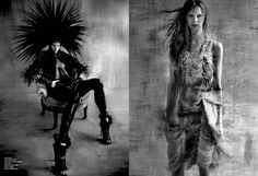 visual optimism; fashion editorials, shows, campaigns & more!: tribal beat: lexi boling, katlin aas and devon windsor by solve sundsbo for v #88 spring 2014