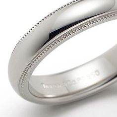 Beautiful Tiffany Classic Milgrain Wedding Band Ring