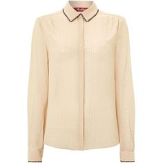 Max Mara Studio Turchia silk spotted blouse with sequin collar and other apparel, accessories and trends. Browse and shop 8 related looks.