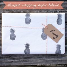 Stamped Wrapping Paper