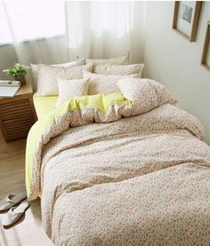 Flowers And Plants Floral Green Bedding Girls Bedding Teen Bedding Kids Bedding