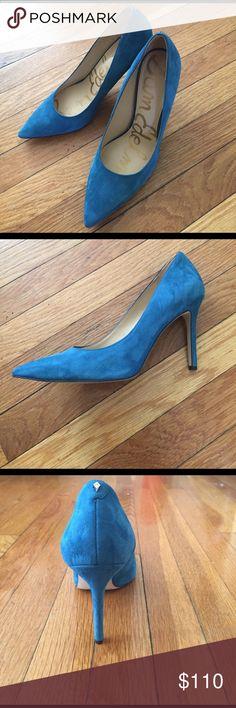 Sam Edelman Blue Suede heels Blue high heels Sam Edelman Shoes Heels