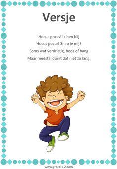 Versje: Thema Het kleurenmonster Wolf, Family Crafts, Craft Party, Kids Learning, Cool Kids, Coaching, Preschool, The Unit, Feelings