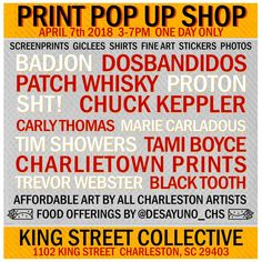 King Street Collective Print Pop Up Shop - Tami Boyce One Day Only, Affordable Art, My Passion, Pop Up, King, Street, My Love, Artist, Prints