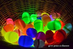 Glow in the Dark Easter Egg Hunt @ http://pleasegivepeasachance.blogspot.com/2012/04/glow-in-dark-easter-egg-hunt.html