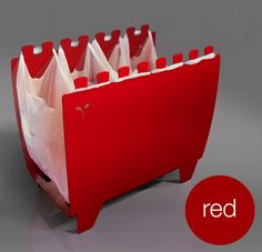 binvention;  it's a new flexible way of re-using shopping bags to collect cans