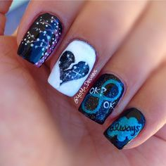 The Fault in our Stars nail art by YoMu_Designs