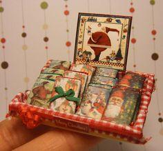 12th Scale Doll House Christmas Chocolate Bar Display