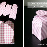 Cupcake Gift Box Printable Template