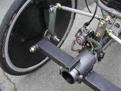 El Centro de Información del Vehículo reclinada de la bicicleta y Human Powered