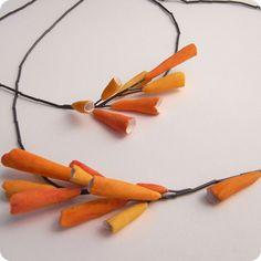Silina Pantelidou paper clay jewelry