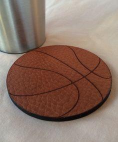 The Gully leather 'Slam Dunk Basketball coaster.