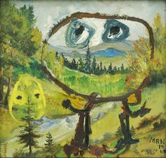 Asger Jorn,Souriez Rue Froide,1962. Asger Jorn, Enticement,...