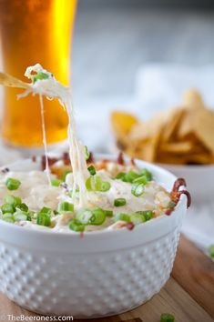 Kentucky Derby Recipes - roasted garlic and parmesan beer cheese dip