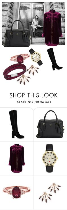 """Untitled #113"" by xhenita-bandula ❤ liked on Polyvore featuring SOREL, Kate Spade, Yves Saint Laurent and Swarovski"