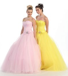 BallGown Sweetheart Tulle Floor-length Daffodil Sashes / Ribbons Quinceanera Dress at sweetquinceaneradress.com