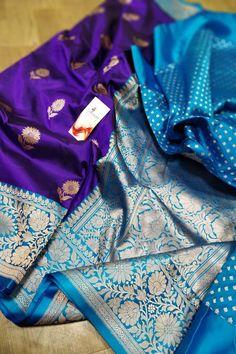 Indian Attire, Indian Ethnic Wear, Saree Dress, Sari, Purple Saree, Banarsi Saree, Purple Fabric, Work Sarees, Silk Sarees Online