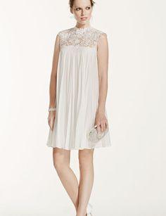 Short, Retro Wedding Dresses For Your Vow Renewal! #weddings #vowrenewal #short #dresses