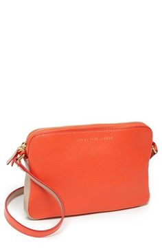 $198, Orange Leather Crossbody Bag: Marc by Marc Jacobs Sophisticato  Dani Leather Crossbody Bag Vibrant Orange Multi. Sold by Nordstrom. Click for more info: http://lookastic.com/women/shop_items/50422/redirect