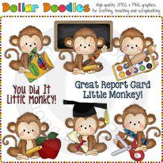 Monkey Business School Clip Art Download