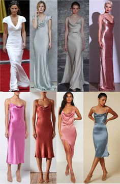 Tendência anos 90: decote drapeado Jovani Dresses, Glam Dresses, Satin Dresses, Cute Dresses, Fashion Dresses, Summer Dresses, Colour Combination For Dress, 90s Inspired Outfits, Stunning Prom Dresses