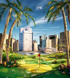 25 Creative and Mind-Blowing Foodscape Advertisements by Carl Warner Creative Advertising, Advertising Design, Carl Warner, Landscaping Images, Under The Lights, Abu Dhabi, Photo Manipulation, Landscape Art, Unique Art