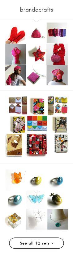 """brandacrafts"" by marianaypaula on Polyvore featuring stationery, notebooks, stationeryCiaffi, ciaffi, ciaffinotebooks, etsy, glass, glassDaisys, arte y owl"