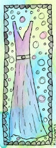 """""""The Perfect Fit"""" - Original Fine Art for Sale - Watercolor and Ink - © Kali Parsons - http://kaliparsons.blogspot.com"""