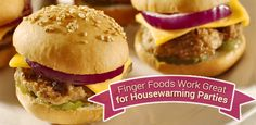Wondering what types of food works best for your #houswarming #party? Try finger foods and appetizers!