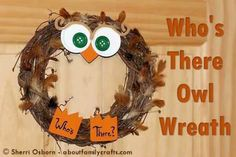 Owl Wreath | Home and Garden | CraftGossip.com