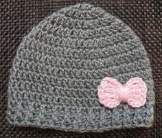 Girl beanie/ Baby Girl Hat with Bow. $12.50, via Etsy.