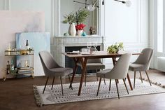 West Elm Mid-Century Expandable Dining Table 152 cm cm Walnut Brown at Arnotts. Modern Double Beds, West Elm Mid Century, Auditorium Seating, Movable Walls, Expandable Dining Table, Wood Bedroom Furniture, Leather Bed, Furniture Factory, Elegant Dining