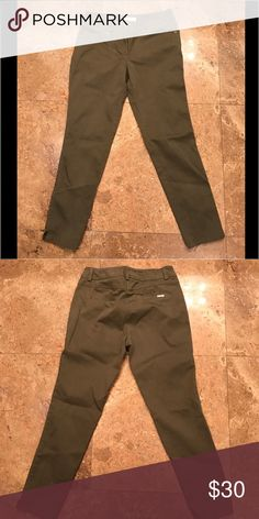 Cache olive green pants size 4 Cache olive green pants size 4 Cache Pants