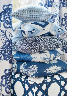Blue Pillows from Summer House Collection