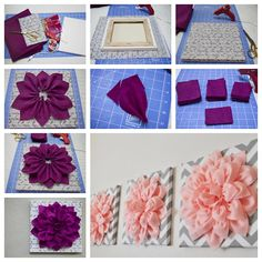 diy 3D felt flower wall art  #diy #homedecor #wallart