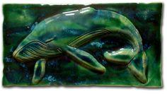"Ceramic Wall Art Maui Humpback Whale 8.5""x17.5"" MP29"
