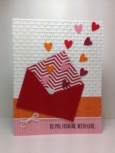 envelope die: MFT, glitter hearts, v-day, by beesmom - Cards and Paper Crafts at Splitcoaststampers