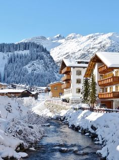Winter in Lech am Arlberg in the Austrian alps Austria Winter, Best Ski Resorts, Best Skis, Last Minute Travel, Ski Season, Austria Travel, Camping Photography, Camping Places, Ireland Travel