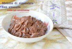 Mousse di cioccolato con avocado