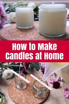 How to Make Candles at Home If you've ever wanted to know how to make candles at home then my guest, Jen Donald, has the perfect tutorial for you. She makes it look easy! Informations About How to Make Candles at Home Diy Candles Easy, Homemade Candles, Soy Candles, Candle Jars, Making Candles, Candle Craft, Citronella Candles, Candleholders, Homemade Gifts