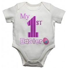 My First Easter Girls Baby New Funny Personalised Baby/Toddler Vest, Great Newborn Gift - Bodysuit/G Baby Vest, Baby Boy, Funny Babies, Cute Babies, My First Easter, Easter Baby, Toddler Vest, Unique Baby Clothes, Baby Grows