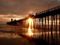 What i miss about California. Oceanside Pier(:
