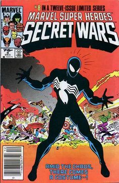 For sale marvel super heroes secret wars 1 12 set first prints 8 spiderman black costume venom beyonder spiderwoman ii 2 wasp dies x-men avengers comic book emorys memories. Comics Spiderman, Marvel Comics, War Comics, Marvel Comic Books, Comic Books Art, Black Spiderman, Black Avengers, Venom Comics, Venom Comic Book