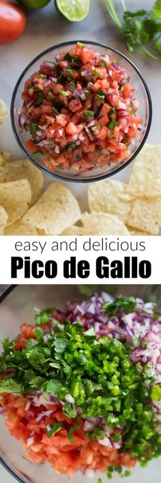 Everyone loves this easy Pico de Gallo recipe, made in just 10 minutes with fresh tomatoes, cilantro, red onion, and jalapeño. The best topping for all of your Mexican food favorites. Source by betrfromscratch Authentic Mexican Recipes, Mexican Easy, Mexican Food Recipes, Dinner Recipes, Ethnic Recipes, Healthy Mexican Food, Healthy Food, Mexican Night, Gourmet